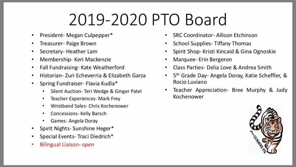2019 PTO Board