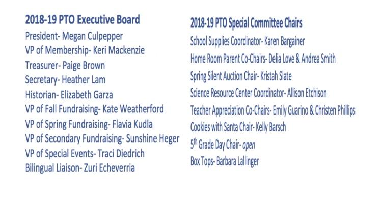 2018-19 PTO Board